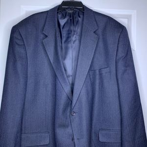 Jos. A. Bank Blazer Blue Herringbone 52R Wool